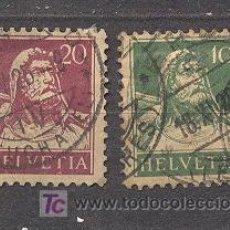 Sellos: SUIZA,1914, 2 SELLOS USADOS. Lote 20765304