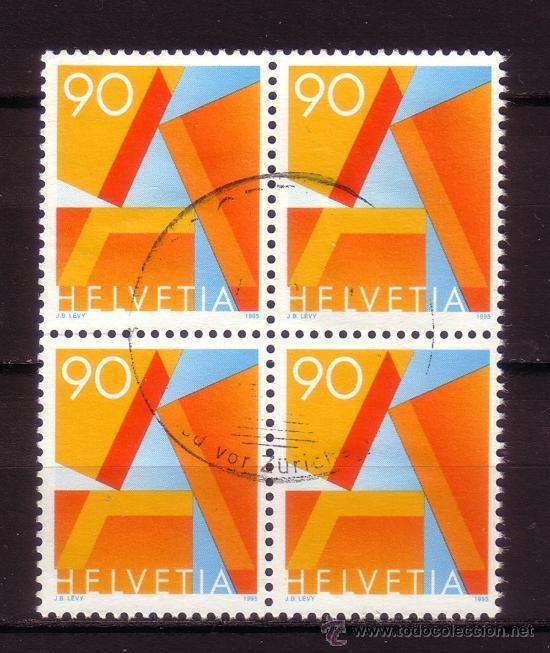 SUIZA 1498 - BLOQUE DE 4 - AÑO 1995 - SERIE BÁSICA (Sellos - Extranjero - Europa - Suiza)