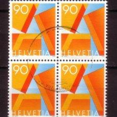 Sellos: SUIZA 1498 - BLOQUE DE 4 - AÑO 1995 - SERIE BÁSICA. Lote 22810923