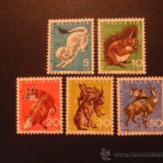 Sellos: SUIZA Nº YVERT 778/2*** AÑO 1966. PRO JUVENTUD.FAUNA. . Lote 23346064