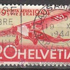 Sellos: SUIZA IVERT AEREO 37, 20 ANIVERSARIO DEL CORREO AEREO SUIZO, USADO. Lote 25050114