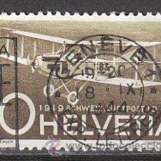 Sellos: SUIZA IVERT AEREO 36, 20 ANIVERSARIO DEL CORREO AEREO SUIZO, USADO. Lote 25050165