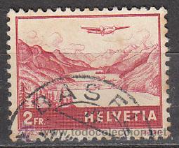 SUIZA IVERT AEREO 33, ENGANDINE, USADO (Sellos - Extranjero - Europa - Suiza)