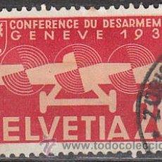 Sellos: SUIZA, IVERT AEREO 17, CONFERENCIA DE DESARME EN GINEBRA (1941), USADO. Lote 25581866