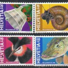 Sellos: SUIZA, IVERT 1593/6, NAVIDAD 1998 Y FAUNA, NUEVO (SERIE COMPLETA). Lote 25581992