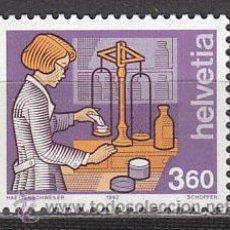 Sellos: SUIZA IVERT 1392, OFICIOS: FARMACIA, NUEVO. Lote 104688552