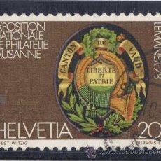 Sellos: SUIZA - 1978 - ( YVERT - 1046 ) ( USADO ) EXPOSICION NACIONAL DE FILATELICA LEMANEX - 78. Lote 26041372