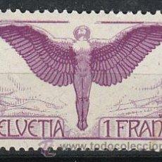 Sellos: SUIZA IVERT AEREO 12A (PAPEL ORDINARIO), NUEVO CON SEÑAL DE CHARNELA (VALOR CLAVE). Lote 26433826