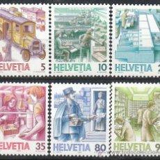 Sellos: SUIZA IVERT 1250/5, EL TRANSPORTE POSTAL A TRAVÉS DE LOS SIGLOS, NUEVO (SERIE COMPLETA). Lote 26434162