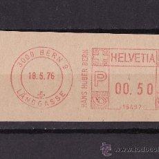 Sellos: FRAGMENTOS FRANQUEO MECANICO BERN 1976. Lote 27476491