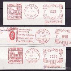 Sellos: FRAGMENTOS FRANQUEO MECANICO BASEL 1970 TEMATICA LIBROS Y EDITORIALES. Lote 27476509