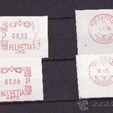 Sellos: FRAGMENTOS FRANQUEO MECANICO SUIZA 1970. Lote 27476526