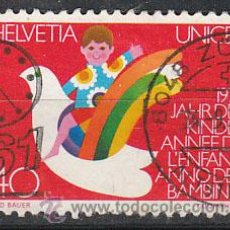 Sellos: SUIZA IVERT 1093, AÑO INTERNACIONAL DEL NIÑO, USADO (SERIE COMPLETA). Lote 26845998