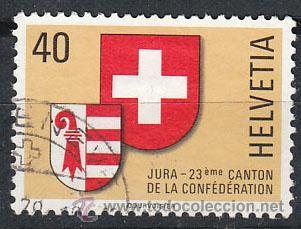 SUIZA IVERT 1071, JURA, USADO (SERIE COMPLETA) (Sellos - Extranjero - Europa - Suiza)