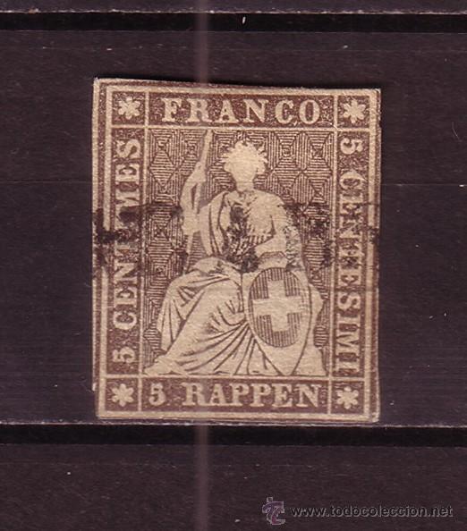 SUIZA 26B - AÑO 1854 - HELVETIA (Sellos - Extranjero - Europa - Suiza)