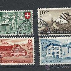 Sellos: SUIZA 1946, FIESTA NACIONAL PRO PATRIA, ZUMSTEIN Nº 30/33. Lote 27682203