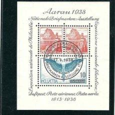 Sellos: SUIZA 1938, EXPOSICION NACIONAL DE FILATELIA AARAU, ZUMSTEIN Nº 11,. Lote 27682762