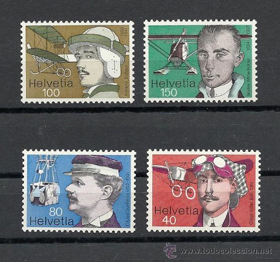 SUIZA 1977, ZUMSTEIN Nº 582/585**, PIONEROS DE LA AVIACION. (Sellos - Extranjero - Europa - Suiza)