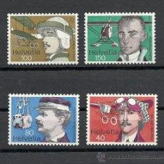 Stamps - SUIZA 1977, ZUMSTEIN Nº 582/585**, PIONEROS DE LA AVIACION. - 28432630