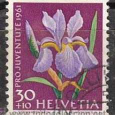 Sellos: SUIZA IVERT 687, IRIS (PRO JUVENTUTE 1961), USADO . Lote 28440795