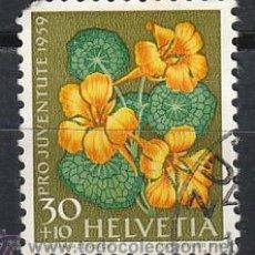 Sellos: SUIZA IVERT 637, CAPUCHINA (PRO JUVENTUTE 1959), USADO. Lote 28481180