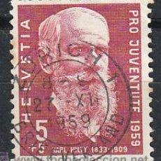 Sellos: SUIZA IVERT 635, KARL HILTY (PRO JUVENTUTE 1959), USADO. Lote 28481212