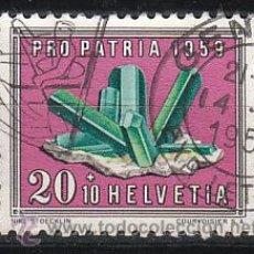 Sellos: SUIZA IVERT 627, TURMALINA (PRO PATRIA 1959), USADO. Lote 28481289