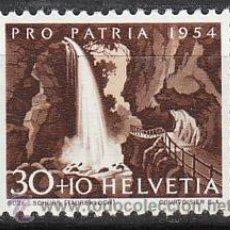 Sellos: SUIZA IVERT 551, LA SUZE (PRO PATRIA 1954), NUEVO CON SEÑAL DE CHARNELA. Lote 28617344