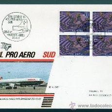 Sellos: SUIZA AÑO 1981 YV A 48 SPD CORREO AEREO - BL4 CON MATASELLOS GINEBRA - BUENOS AIRES - AVIONES. Lote 28853501