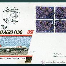 Sellos: SUIZA AÑO 1981 YV A 48 SPD CORREO AEREO - BL4 CON MATASELLOS ZURICH - YAKARTA - AVIONES. Lote 28853511