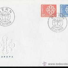 Sellos: SUIZA AÑO 1959 YV 630/31 SPD EUROPA . Lote 28882279