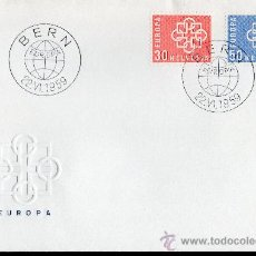 Sellos: SUIZA AÑO 1959 YV 630/31 SPD EUROPA . Lote 28882296