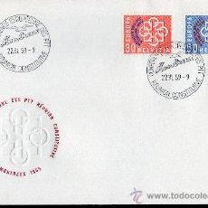 Sellos: SUIZA AÑO 1959 YV 632/33 SPD EUROPA - CONFERENCIA EUROPEA CORREOS Y TELECOMUNICACIONES EN MONTREAUX. Lote 28882319