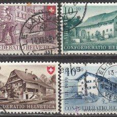 Sellos: SUIZA IVERT 477/80, FIESTA NACIONAL (AÑO 1949), USADO (SERIE COMPLETA). Lote 28987371