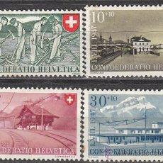 Sellos: SUIZA IVERT 437/40, FIESTA NACIONAL 1947, NUEVO CON CHARNELA (SERIE COMPLETA). Lote 28987672