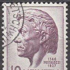 Sellos: SUIZA IVERT 427, 22º CENTENARIO DE PESTALOZZI (EDUCADOR), USADO. Lote 28987715