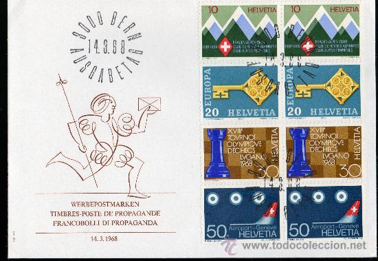 SUIZA AÑO 1968 YV 803/06 SPD - EUROPA - PROPAGANDA - ACONTECIMIENTOS DIVERSOS (Sellos - Extranjero - Europa - Suiza)