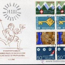 Sellos: SUIZA AÑO 1968 YV 803/06 SPD - EUROPA - PROPAGANDA - ACONTECIMIENTOS DIVERSOS. Lote 29034038