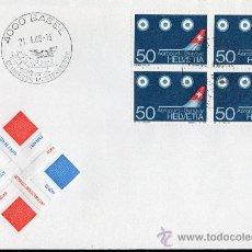 Sellos: SUIZA AÑO 1968 YV 805 SPD - INAUGURACIÓN DEL NUEVO AEROPUERTO DE GINEBRA - AVIONES - TRANSPORTES. Lote 29034086
