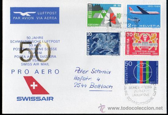 SUIZA AÑO 1969 YV 828/31 + A 46 SPD - ACONTECIMIENTOS DIVERSOS - PRO AEREO - AVIONES - TRANSPORTES (Sellos - Extranjero - Europa - Suiza)