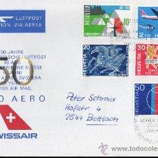 Sellos: SUIZA AÑO 1969 YV 828/31 + A 46 SPD - ACONTECIMIENTOS DIVERSOS - PRO AEREO - AVIONES - TRANSPORTES. Lote 29034324