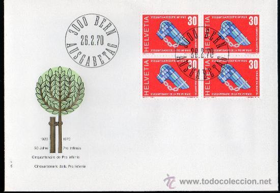 SUIZA AÑO 1970 YV 851 SPD - ACONTECIMIENTOS DIVERSOS - 50 ANVº PRO INFIRMIS (Sellos - Extranjero - Europa - Suiza)