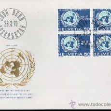 Sellos: SUIZA AÑO 1970 YV 853 SPD - ACONTECIMIENTOS DIVERSOS - 25 ANVº DE LAS NACIONES UNIDAS - ONU - MAPAS. Lote 29063054