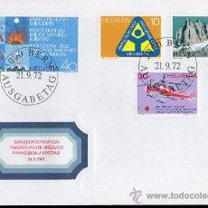 Sellos: SUIZA AÑO 1972 YV 905/08 SPD - NATURALEZA - PROTECCIÓN CIVIL Y SALVAMENTO - AVIONES - TRANSPORTES. Lote 29073472