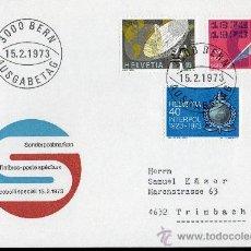 Sellos: SUIZA AÑO 1973 YV 921/23 SPD - ACONTECIMIENTOS - TELECOMUNICACIONES - COMERCIO - 50 ANVº DE INTERPOL. Lote 29073716