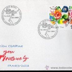 Sellos: SUIZA AÑO 1988 YV 1308 SPD - J. TINGUELY - PINTURA - ARTE - EMISIÓN CONJUNTA CON FRANCIA. Lote 29127427