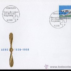 Sellos: SUIZA AÑO 1988 YV A 49 SPD - 50 ANVº PRO AEREO - AVIONES - TRANSPORTES. Lote 29127454