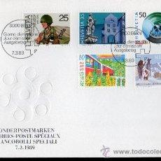Sellos: SUIZA AÑO 1989 YV 1314/18 SPD - ACONTECIMIENTOS DIVERSOS - FAUNA - TRANSPORTES - UNIFORMES MILITARES. Lote 29127516