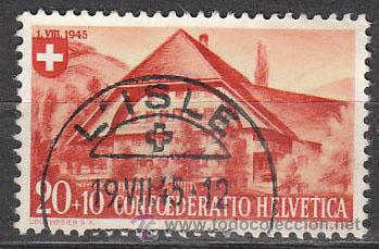 SUIZA IVERT 421, GRANJA DE EMMENTAL, USADO (Sellos - Extranjero - Europa - Suiza)