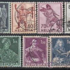 Stamps - Suiza Ivert 358/66, serie historica, usado (serie completa) - 29352533